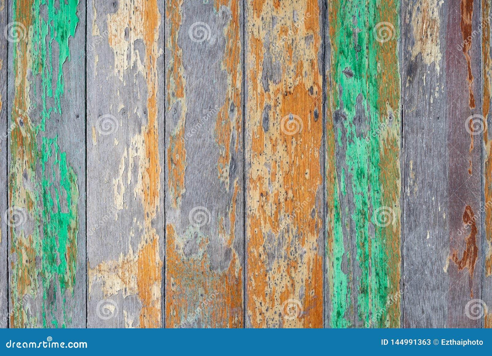 Madeira abstrata do grunge com fundo pintado rachado velho da textura Fundo material de madeira para o papel de parede rústico r