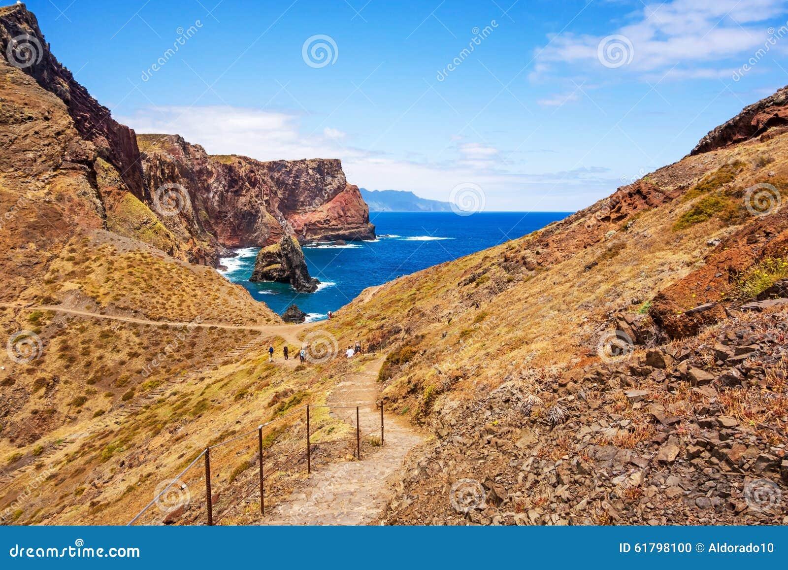 Madeira bay at ponta de sao lourenco stock photo image for Landscaping rocks east bay