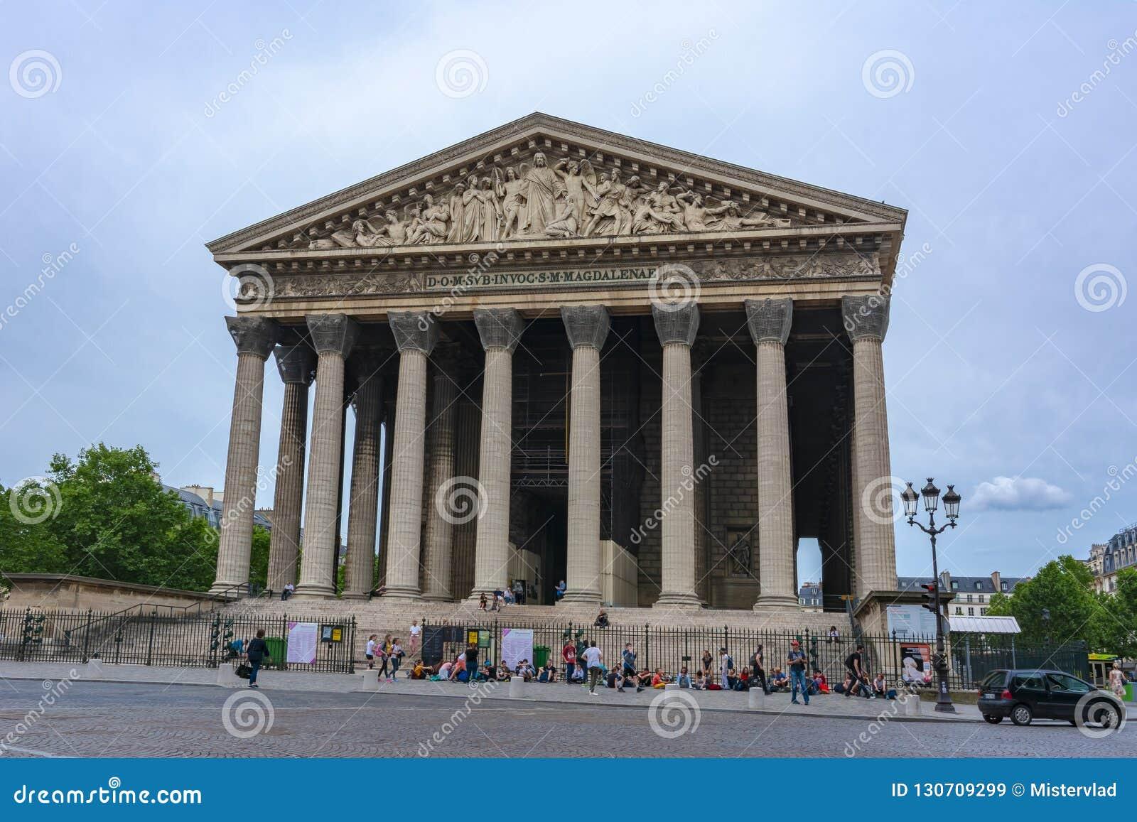 Madeleine Church La Madeleine in Parijs, Frankrijk