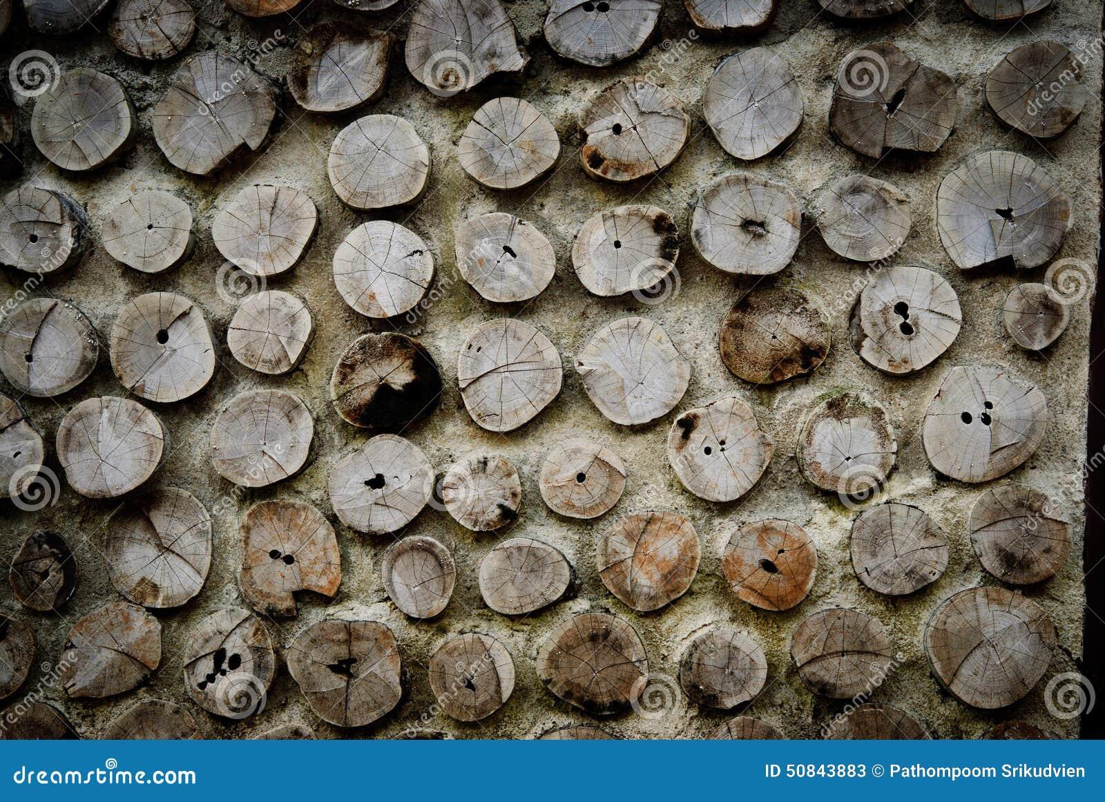 Madera en muro de cemento foto de archivo imagen 50843883 - Muro de madera ...
