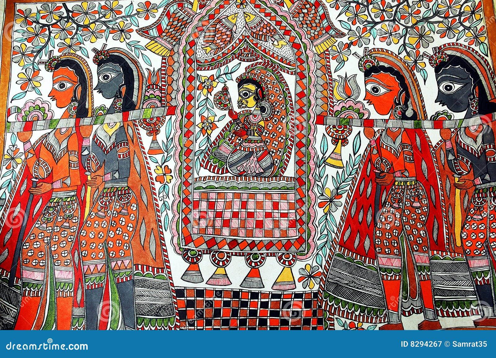Madhubani Painting. Royalty Free Stock Photography - Image: 8294267