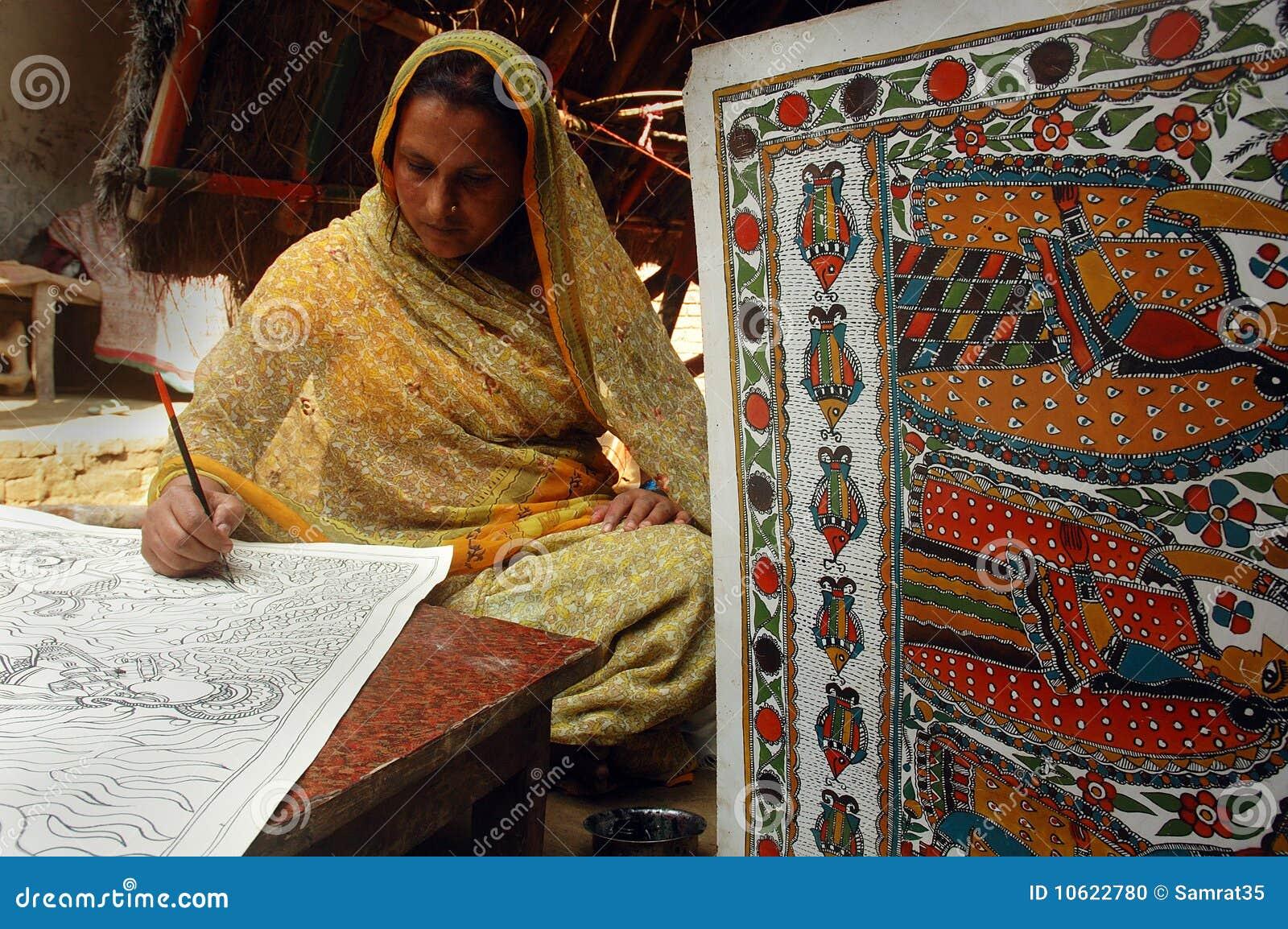 Madhubani Painting In Bihar India Editorial Image Image 10622780