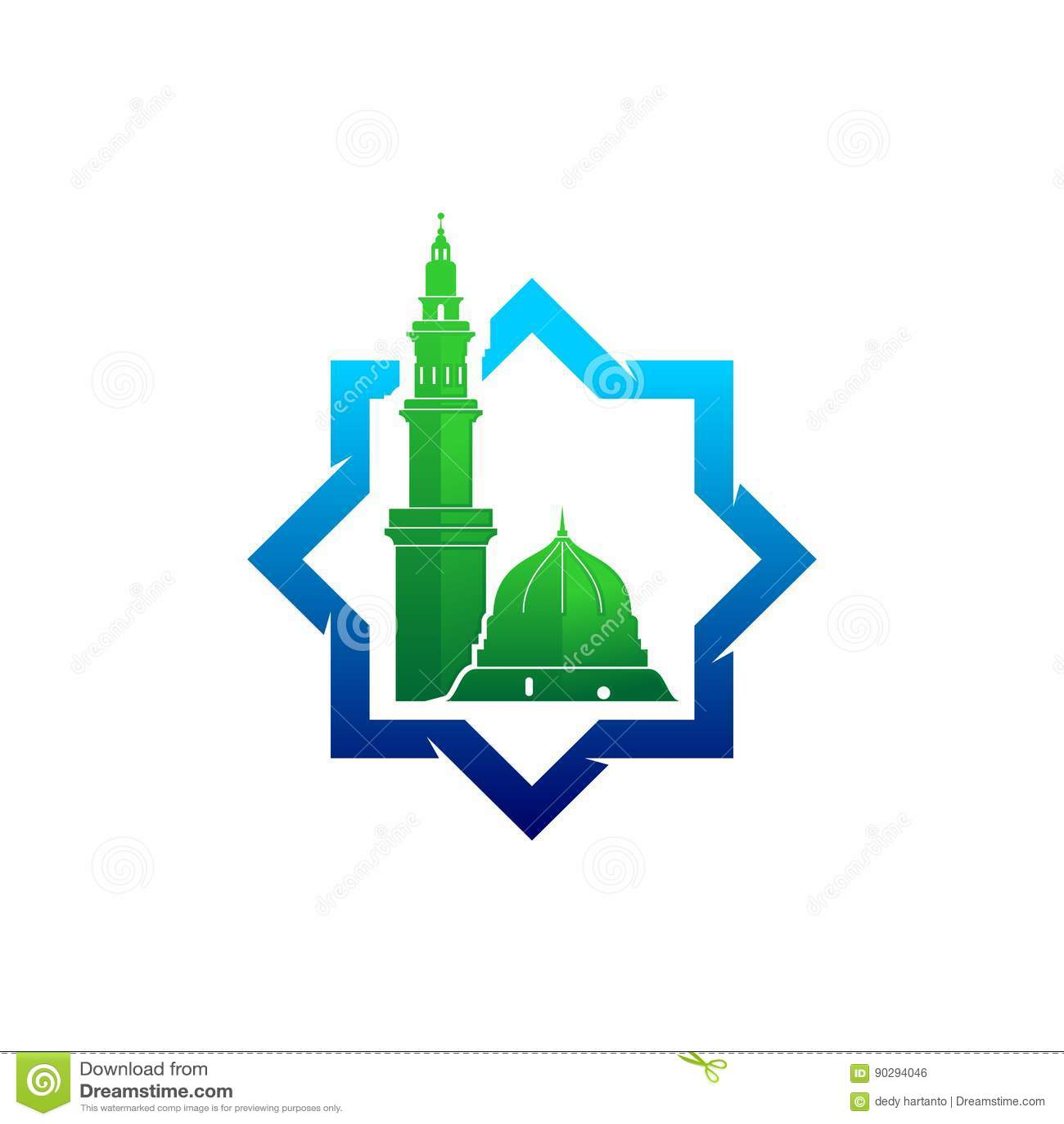 logo kubah masjid nabawi vector logo keren logo keren blogger