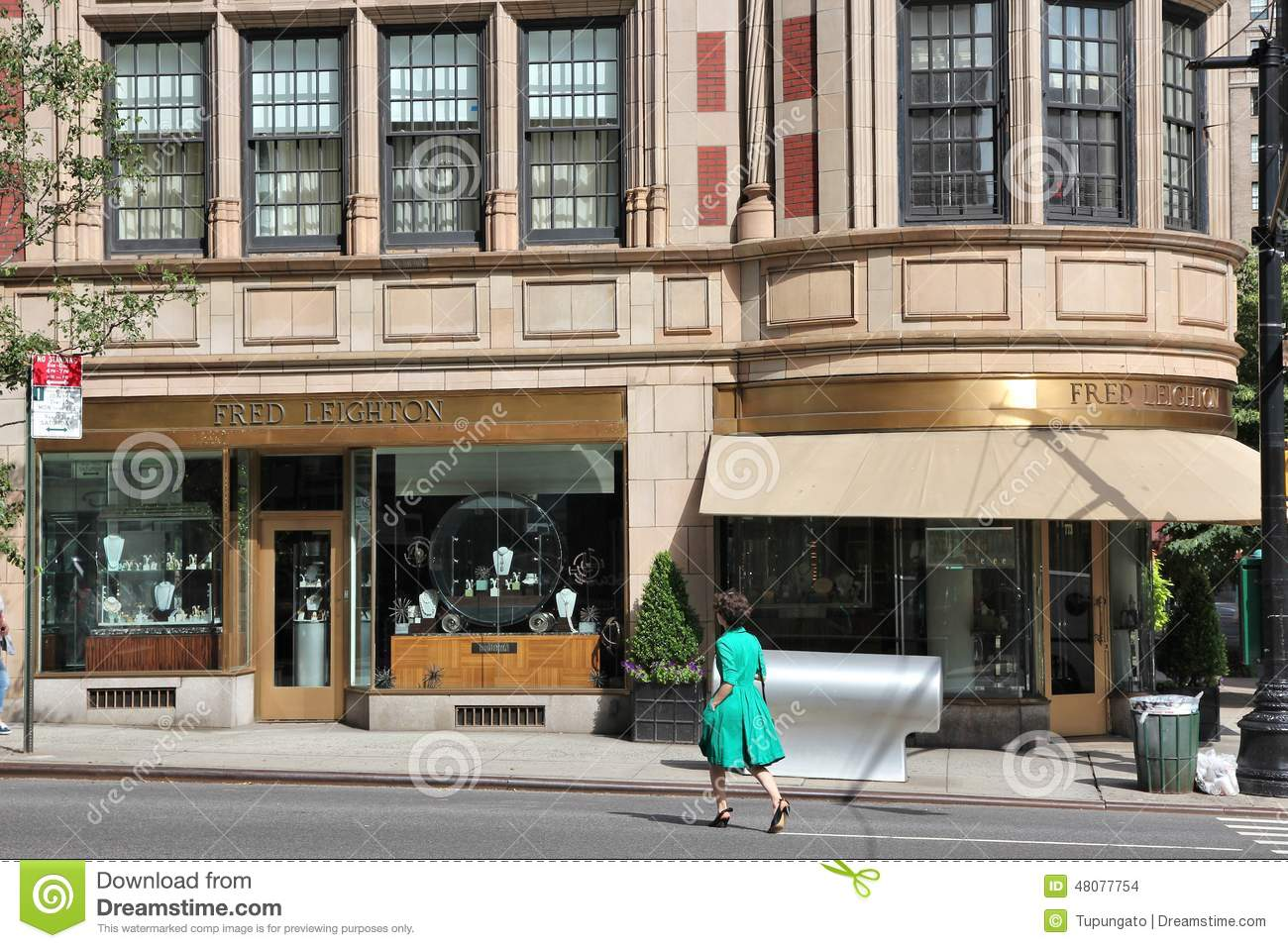 madison avenue shopping editorial stock image image of