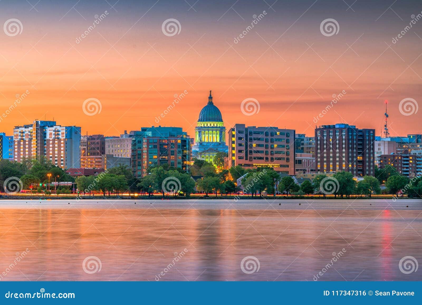 Madison Wisconsin, USA horisont