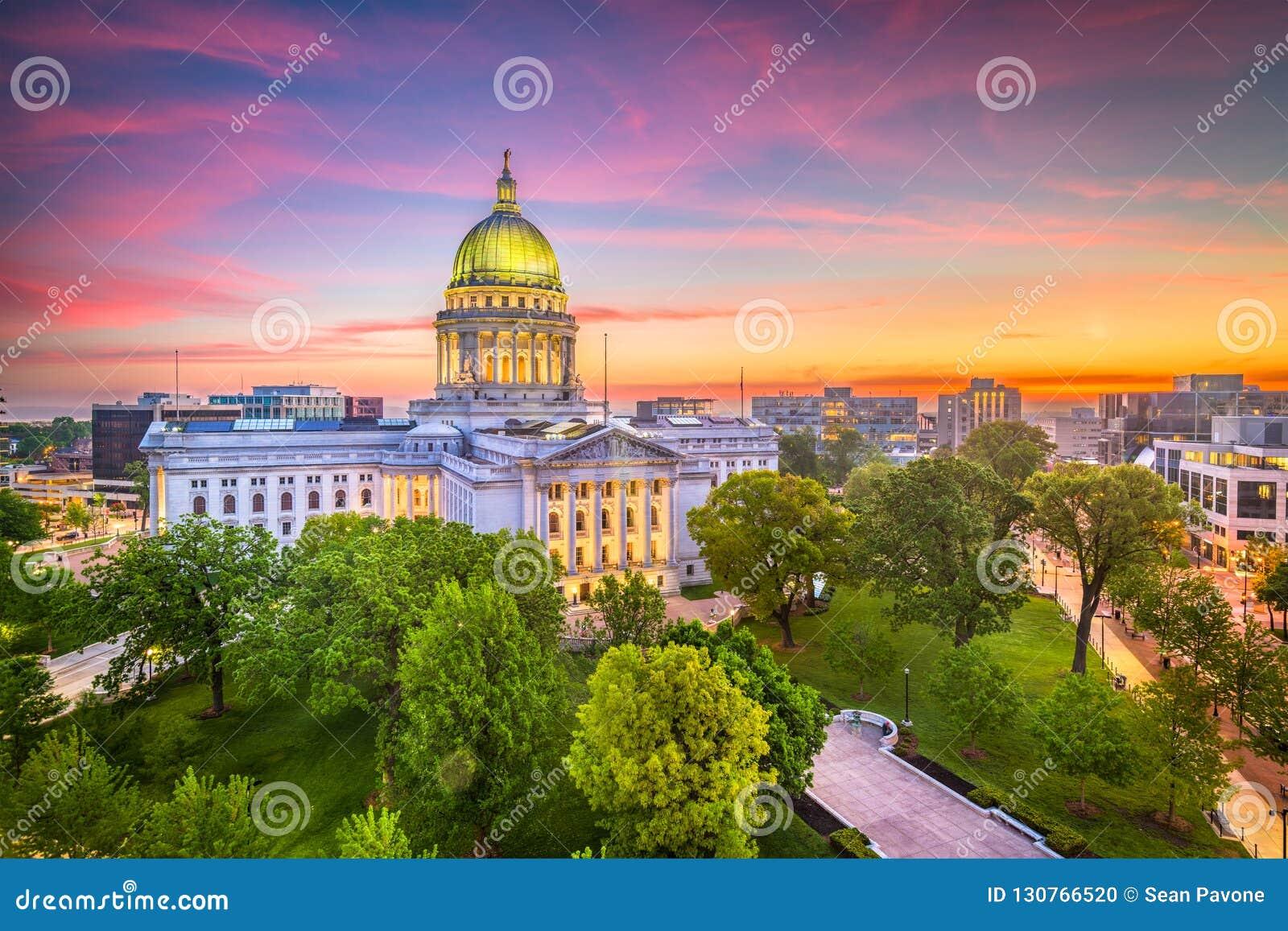 Madison, Wisconsin, usa stanu Capitol budynek