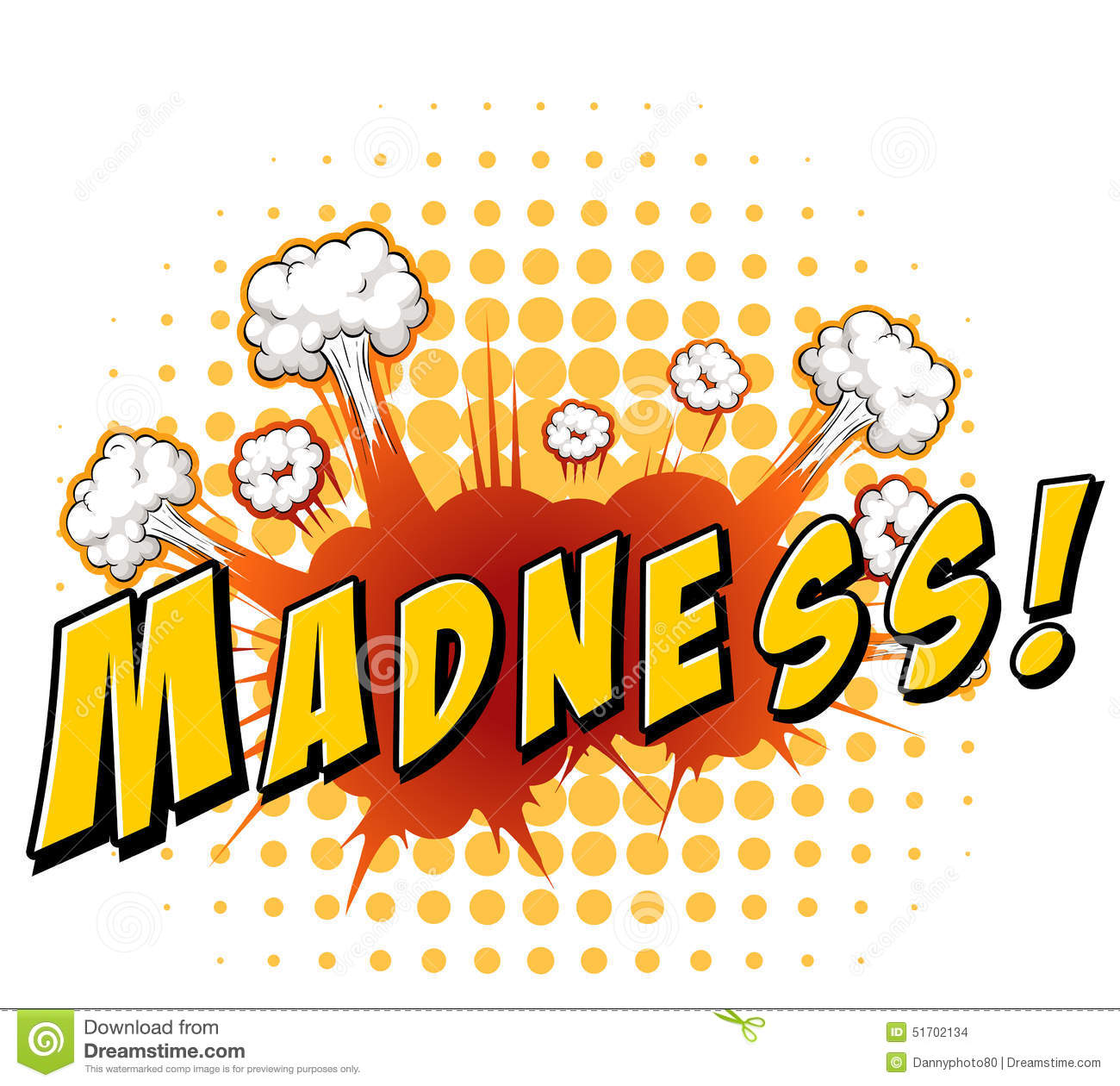 madness vector illustration cartoondealercom 51702134