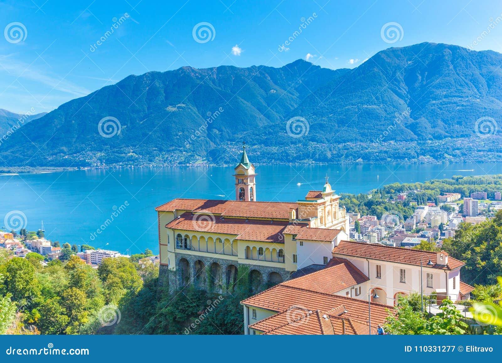 Madonna Del Sasso Church, Locarno, die Schweiz