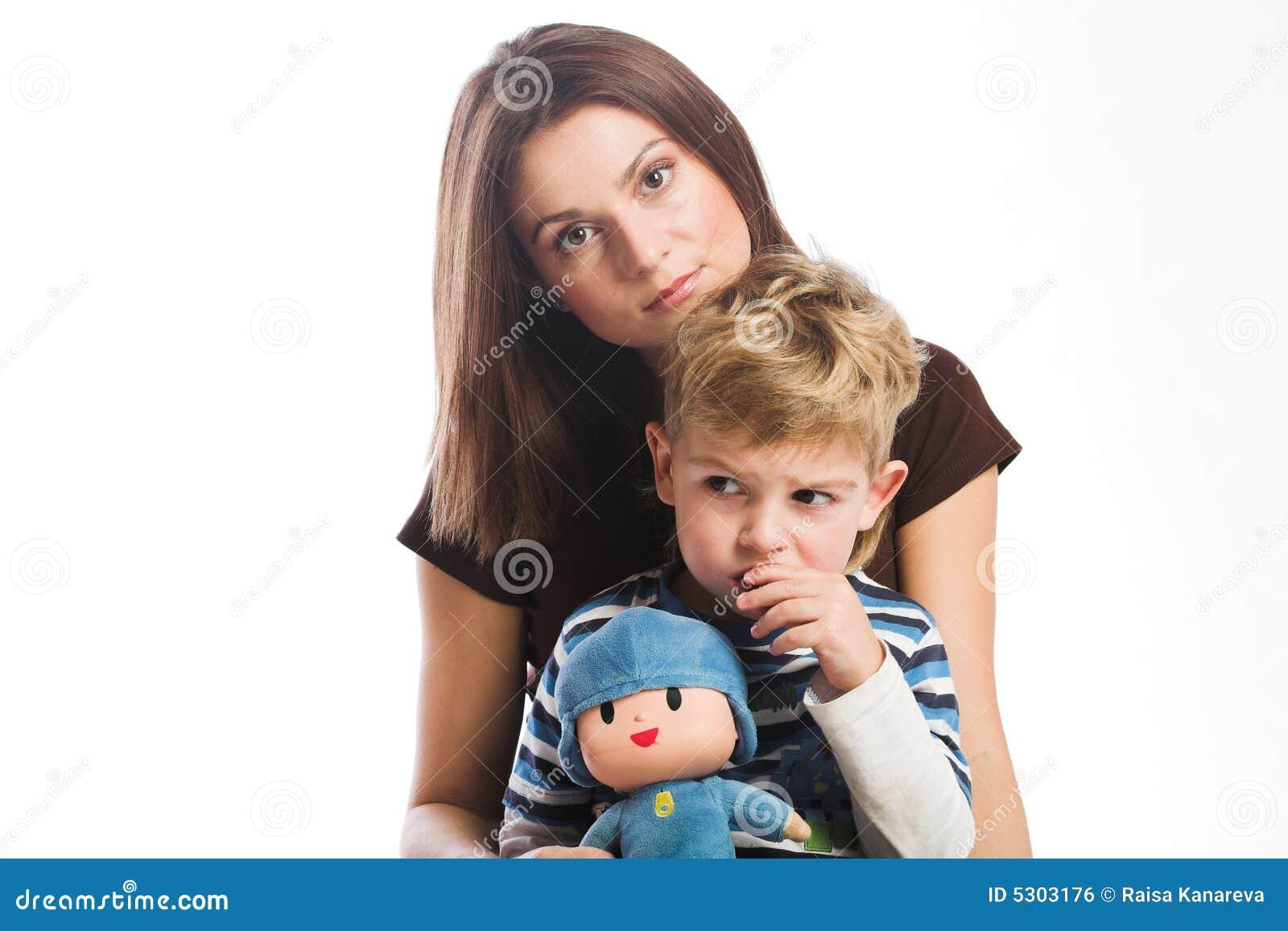 Download Madre con il figlio fotografia stock. Immagine di felice - 5303176