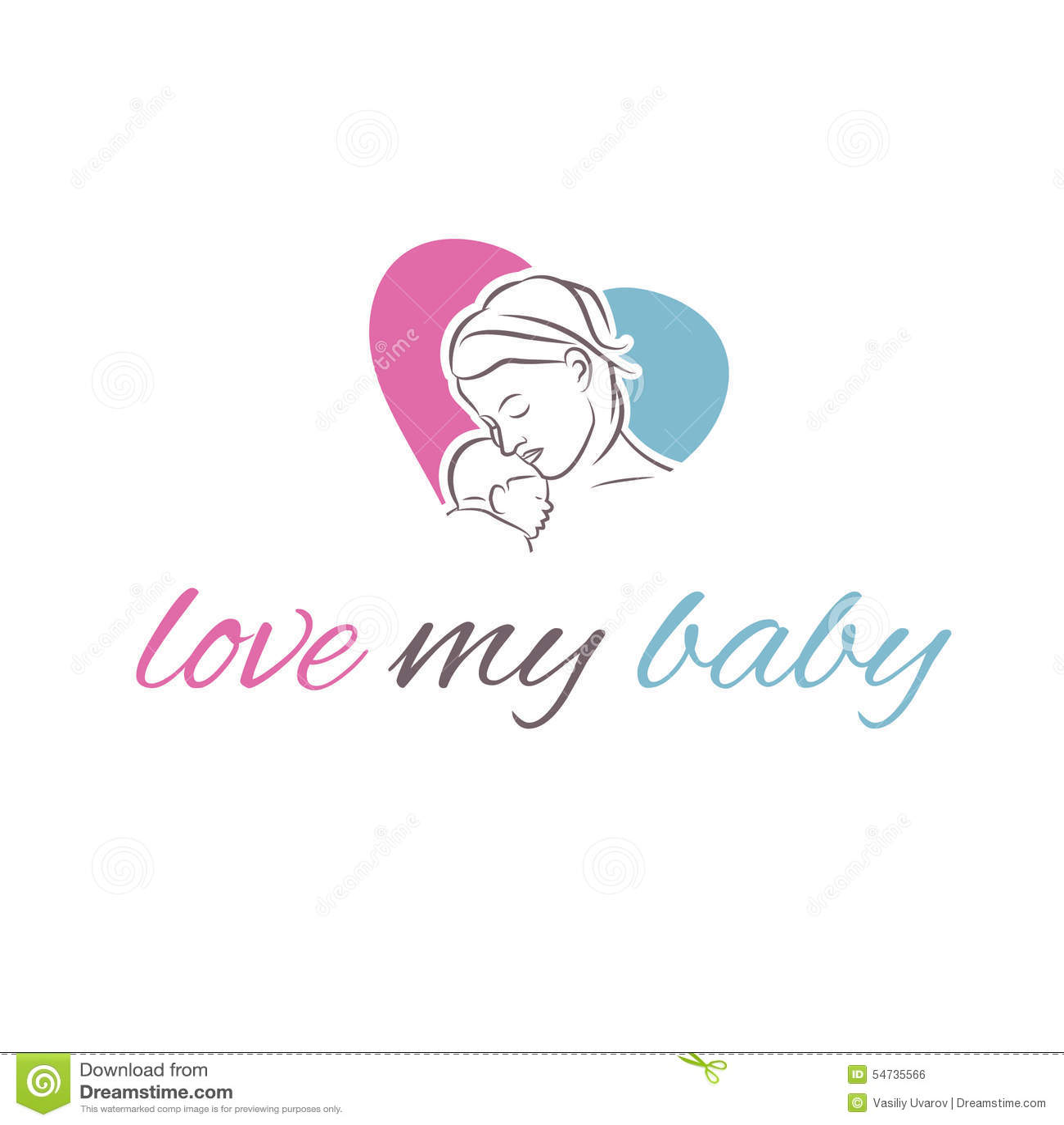 Madre del icono del ejemplo y su bebé