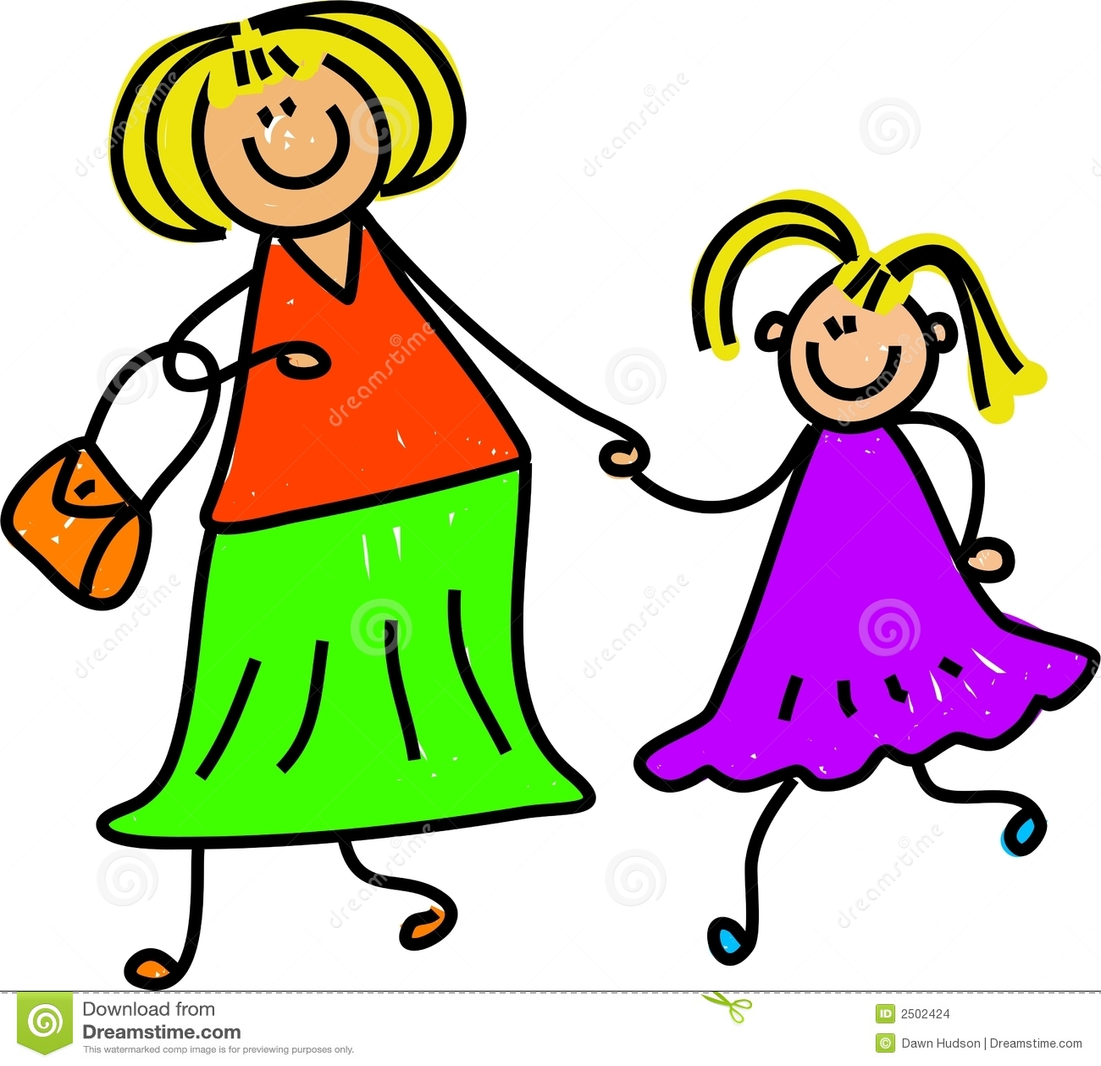 ... agrícola de la madre y de la hija - serie del arte del niño Y Tu Mama Tambien