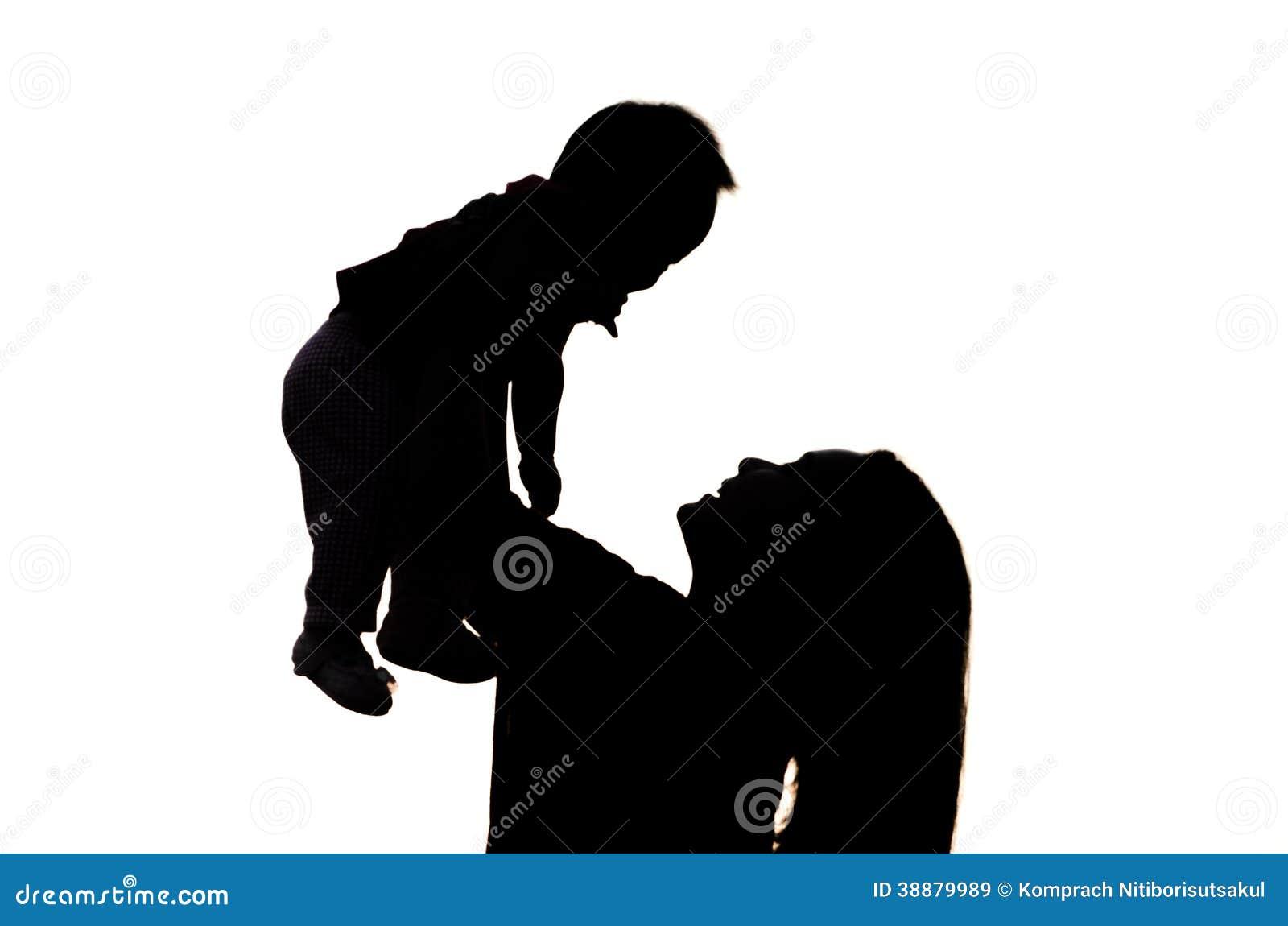 Madre E Hija En Silueta Imagen De Archivo Imagen De Mama 38879989