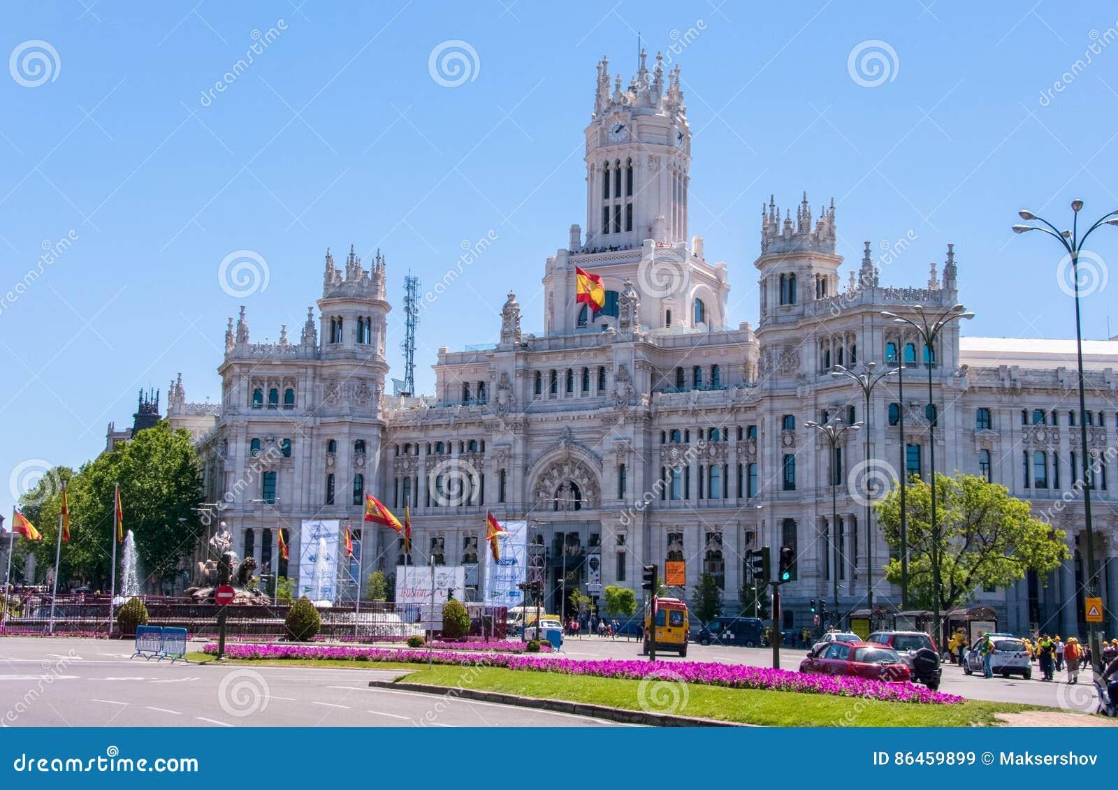 Madri Espanha 4 De Junho De 2013 Palácio De Cibeles Um
