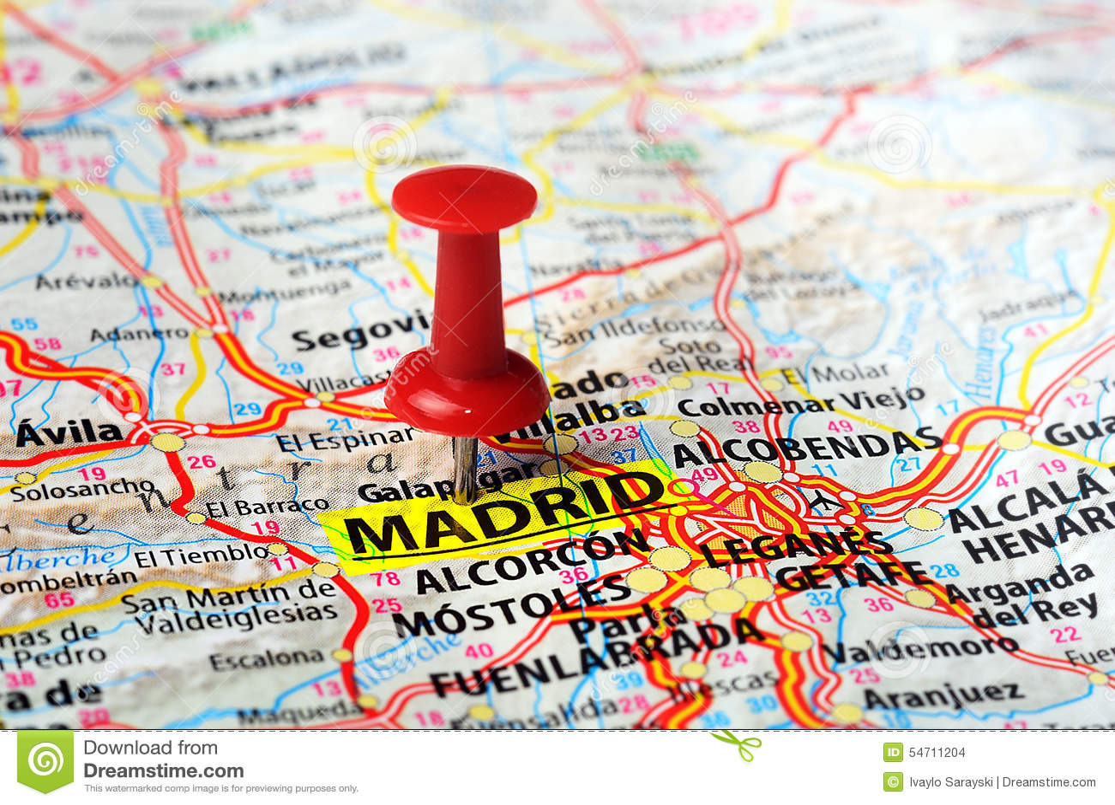 mapa de espanha madrid Madri, mapa da Espanha foto de stock. Imagem de madrid   54711204 mapa de espanha madrid