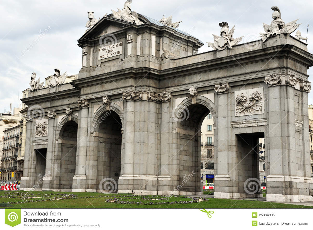 Madrid Arc De Triumph Royalty Free Stock Photo - Image: 25384985