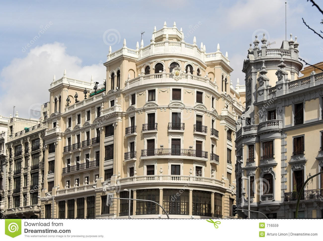 Madrid classic buildings stock image image of madrid for Classic builders