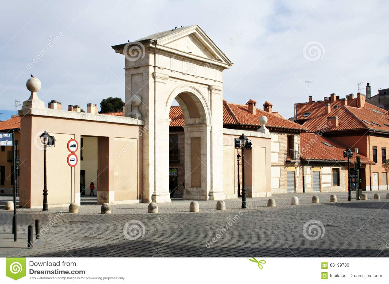 Madrid door in alcala de henares stock photo image 83199780 - Sofas alcala de henares ...