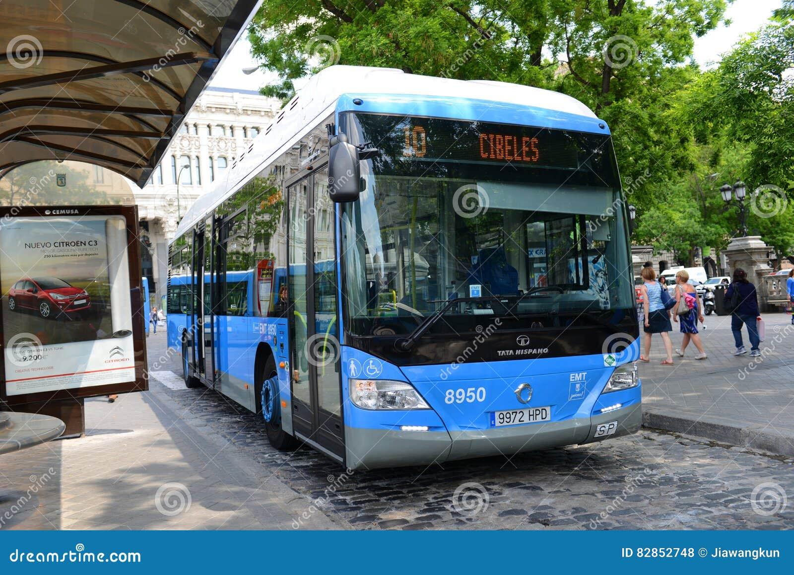 Madrid EMT urban bus in Madrid, Spain