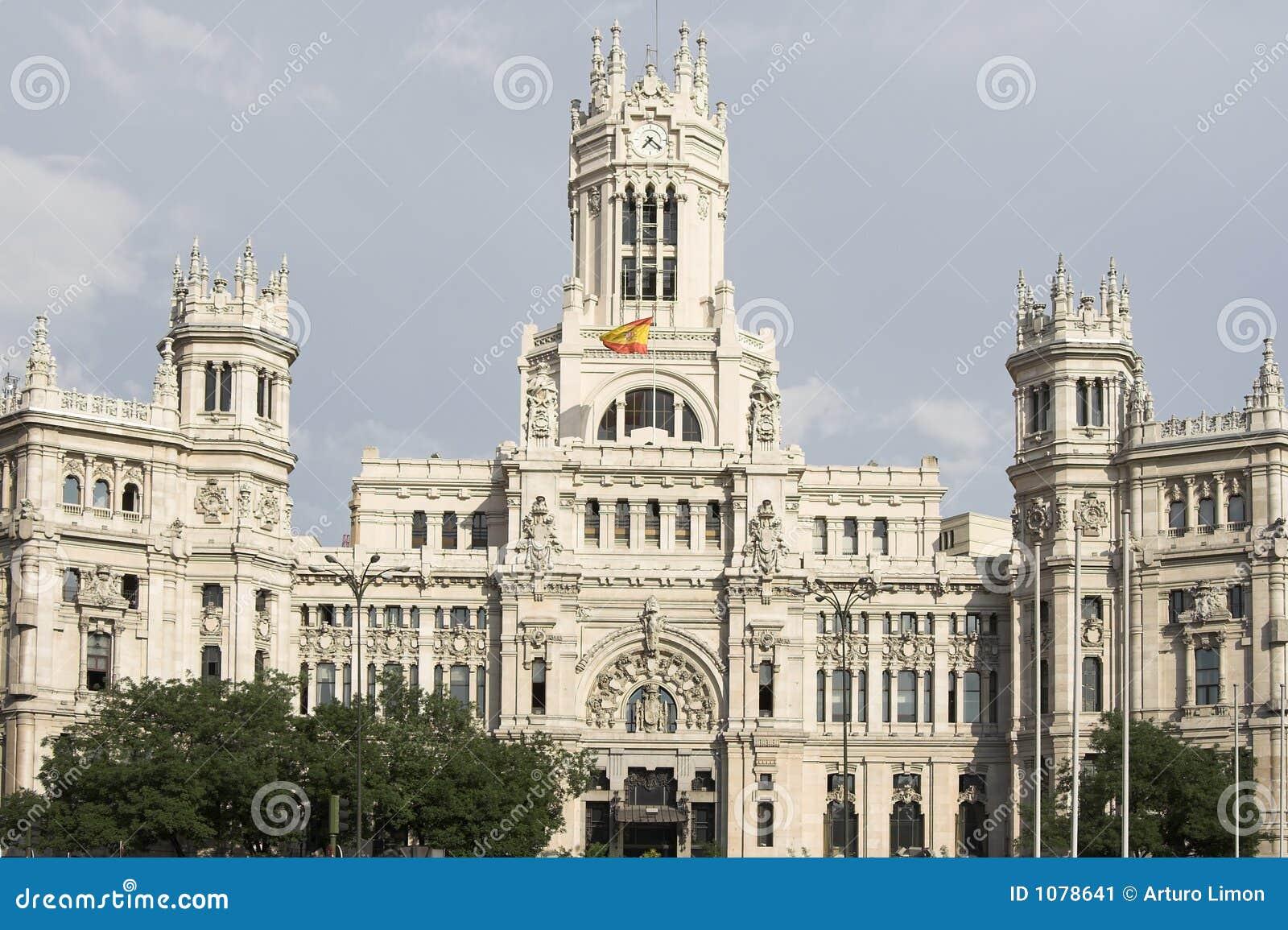 Madrid la oficina de correos imagen de archivo imagen for Oficina central correos madrid