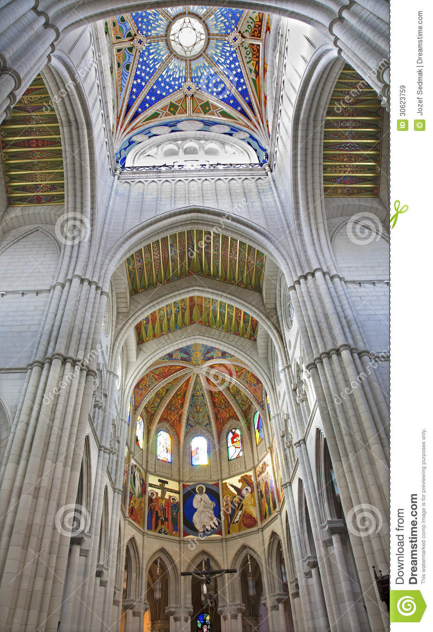 Madrid modern fresco from sanctuary of almudena cathedral royalty free stock images image - Moderne fresco ...