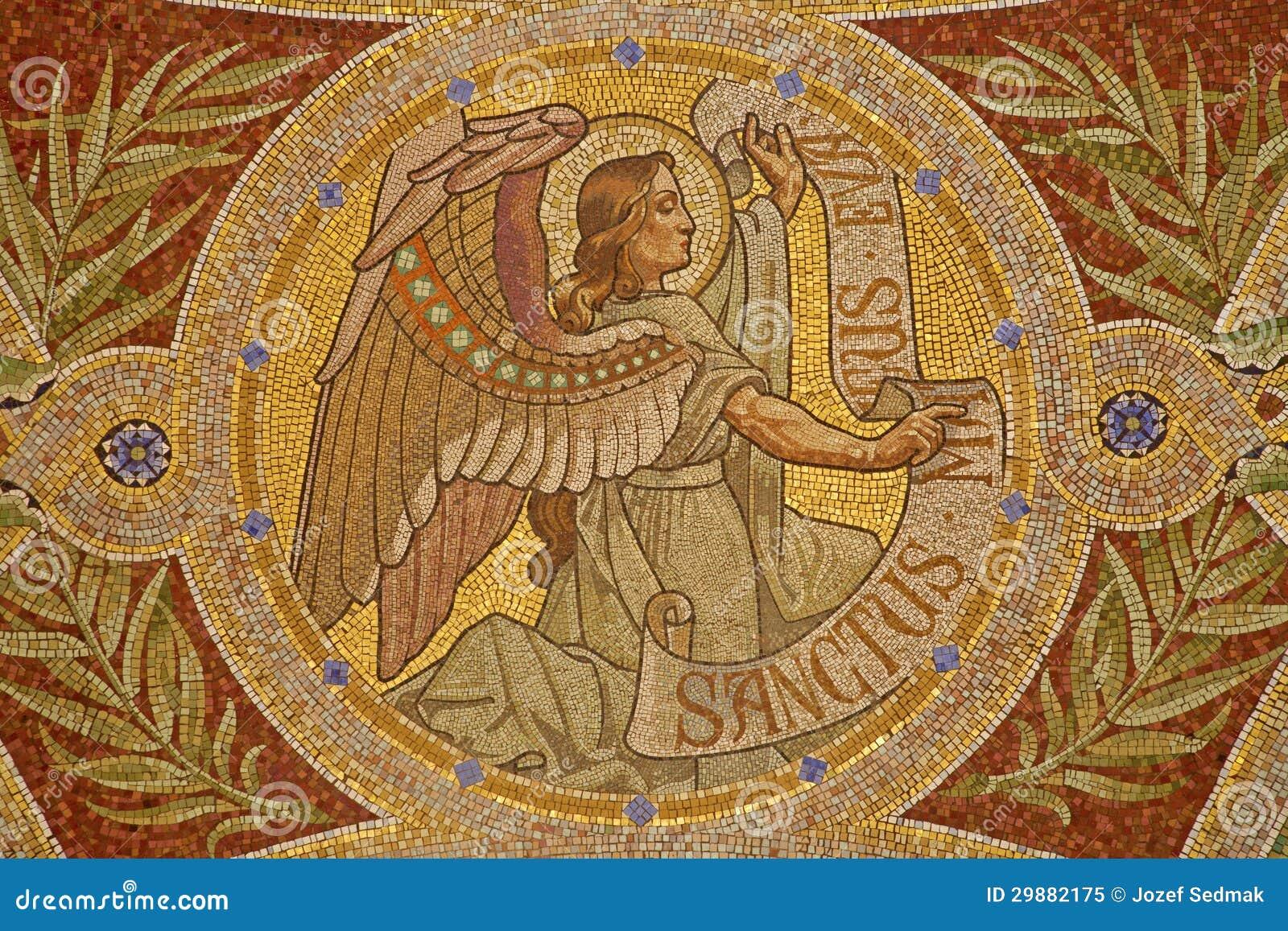 Madrid Mosaic Of Angel As Symbol Of Saint Matthew The Evangelist