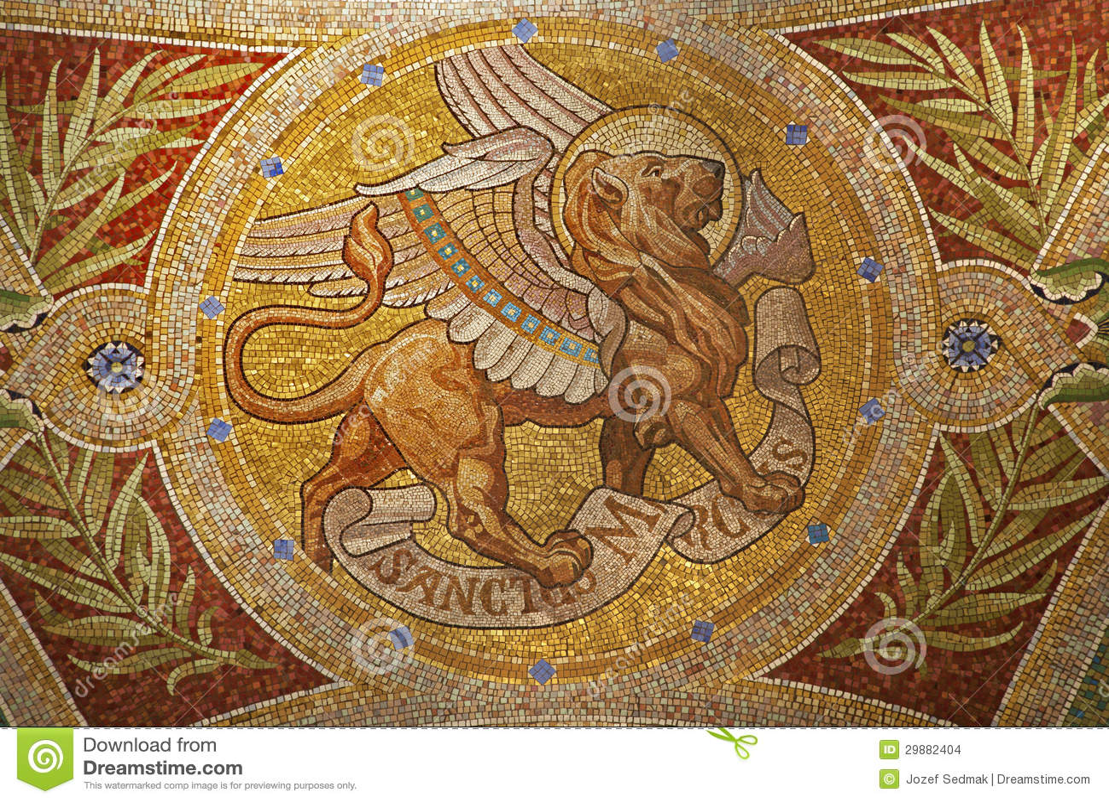 Madrid - Mosaico Do Leão Como O Símbolo Da Marca De Saint O ...