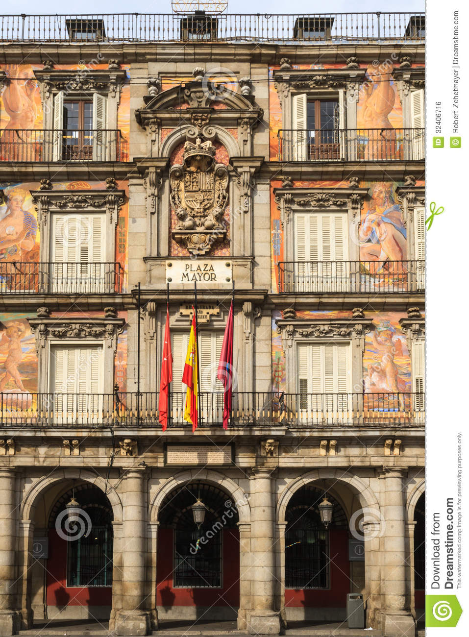 Madrid plaza mayor facade of casa de la panaderia royalty free stock image image 32406716 - Casa de la panaderia madrid ...