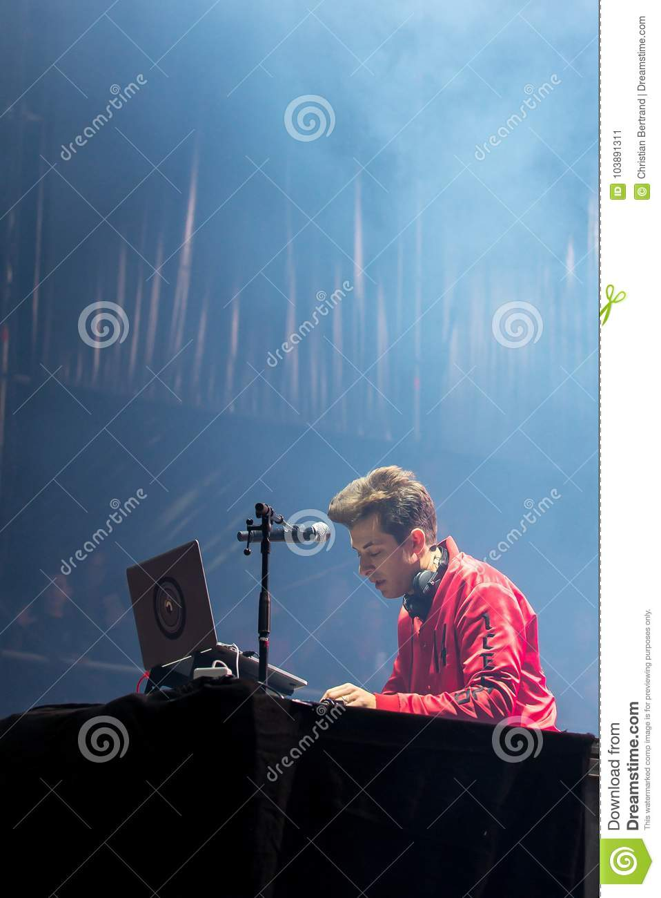 Mark Ronson famous musician, DJ, singer, songwriter and record producer perform in concert at Dcode Music Festival