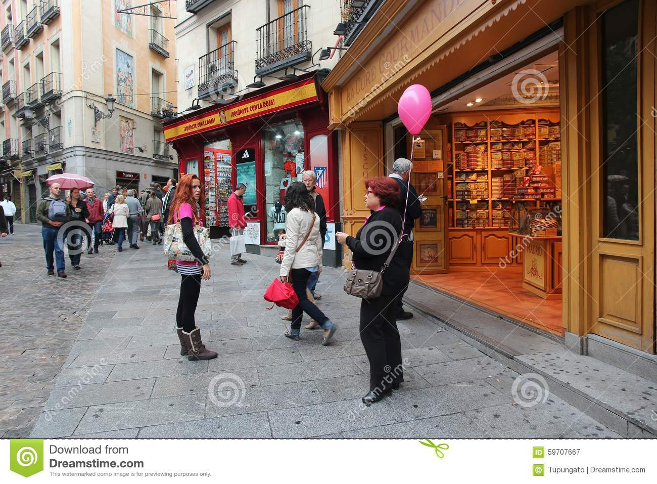 12fe9aa528d Madrid shopping editorial photography. Image of chocolate - 59707667