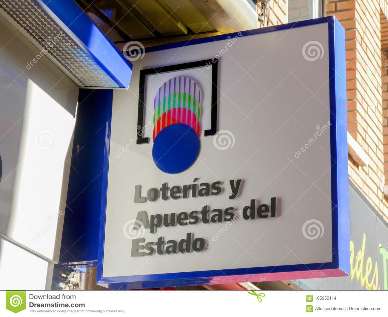 Logo On The Facade Of An Spanish Official National Lottery