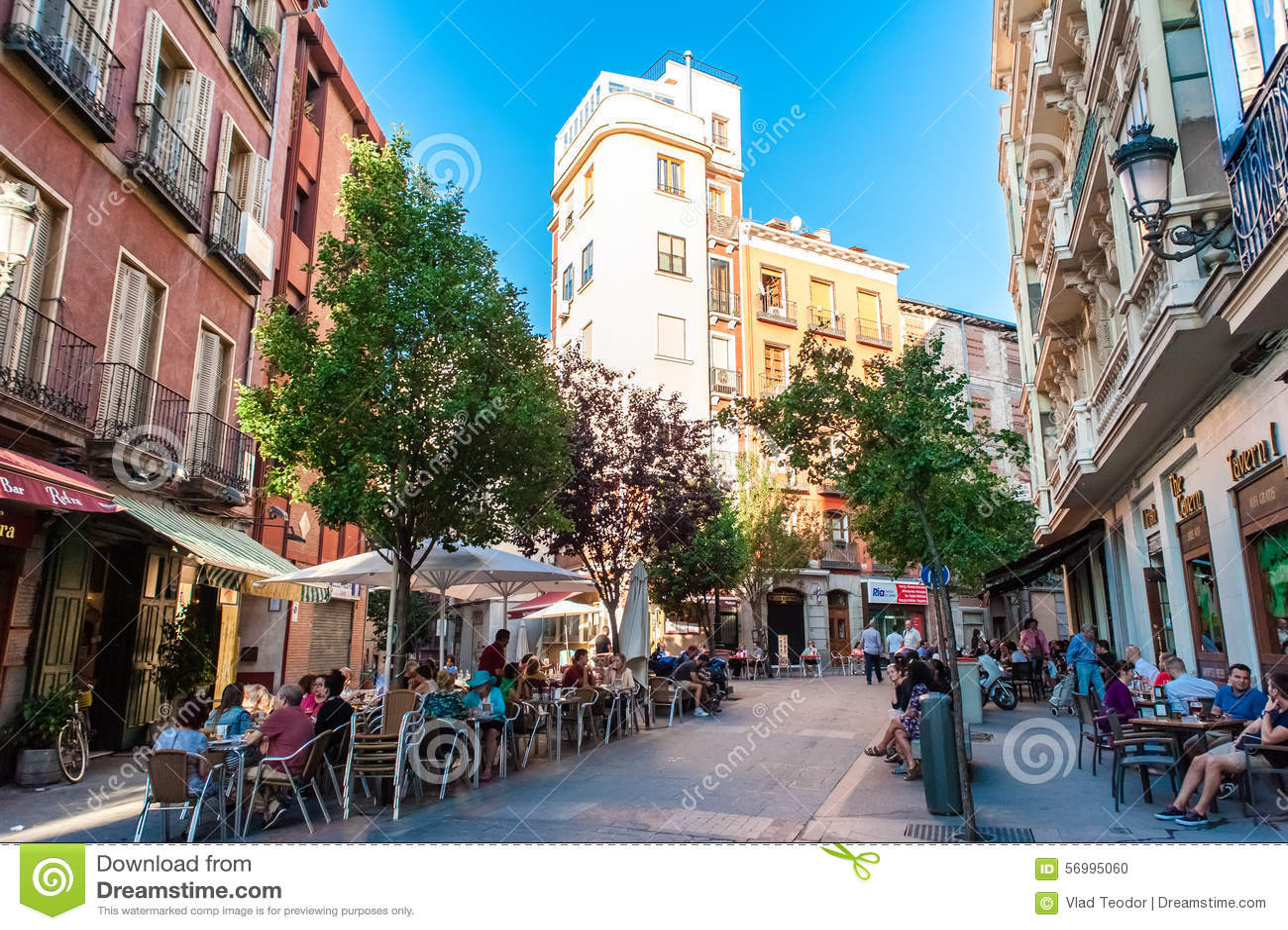 MADRID SPAIN - JUNE 23, 2015: Plaza de San Miguel