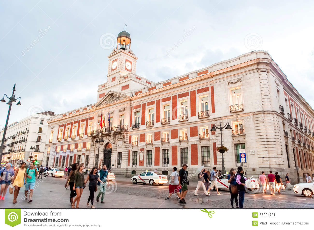 Madrid spain june 23 2015 spain square editorial photo for Edificio de correos madrid