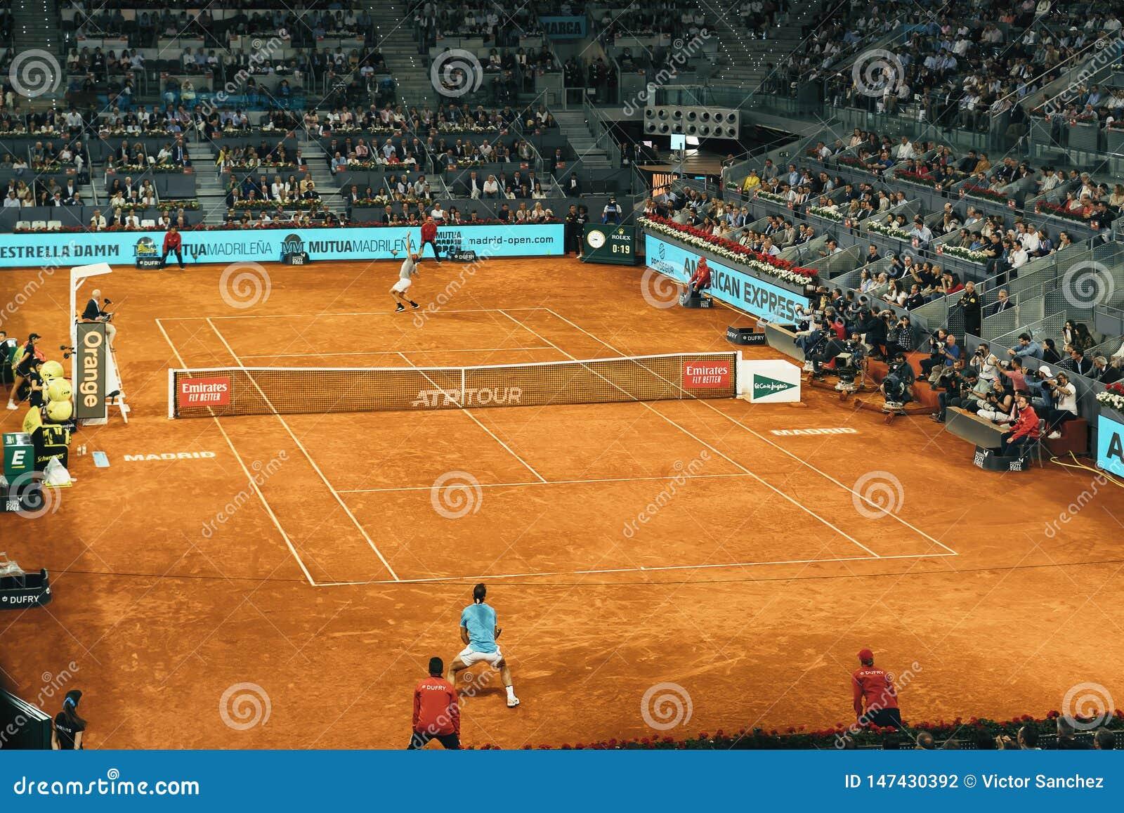 Madrid, Spain; 11 may 2019: The Caja Magica tennis center during the 2019 Mutua Madrid Open ATP Premier Mandatory tennis