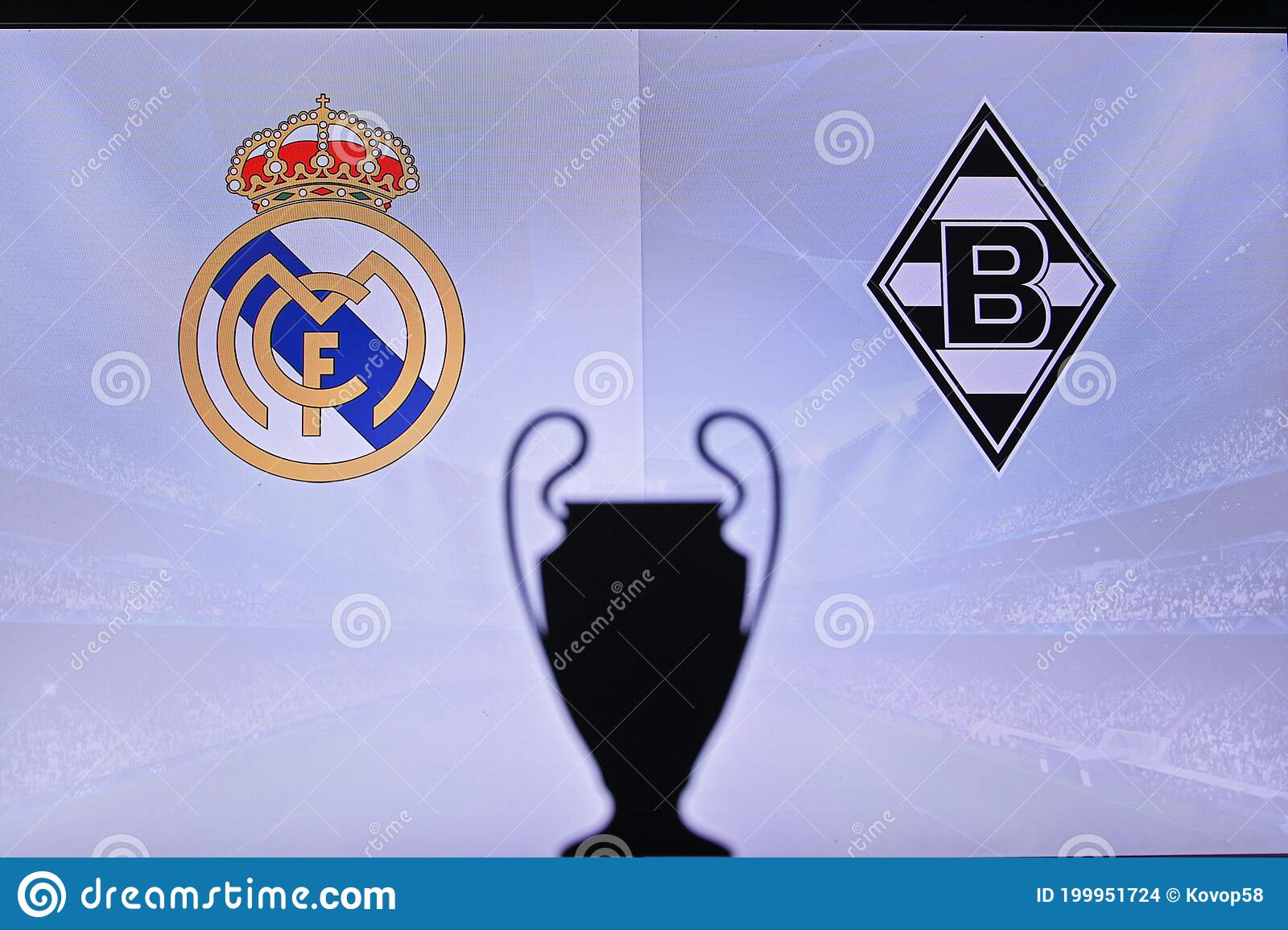 MADRID, SPAIN, NOVEMBER. 16. 2020: Real Madrid Vs. Borussia Mönchengladbach  Football UEFA Champions League 2021 Group Stage Match Editorial Stock Image  - Image of design, competition: 199951724