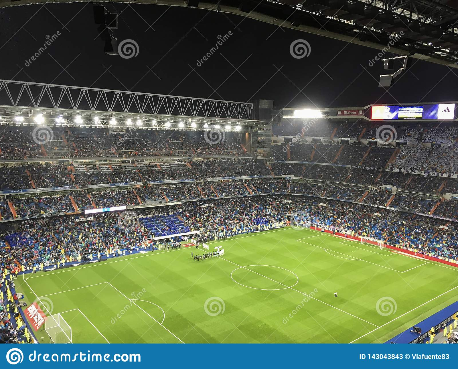Santiago Bernabeu Stadium during a Real Madrid match in 2016