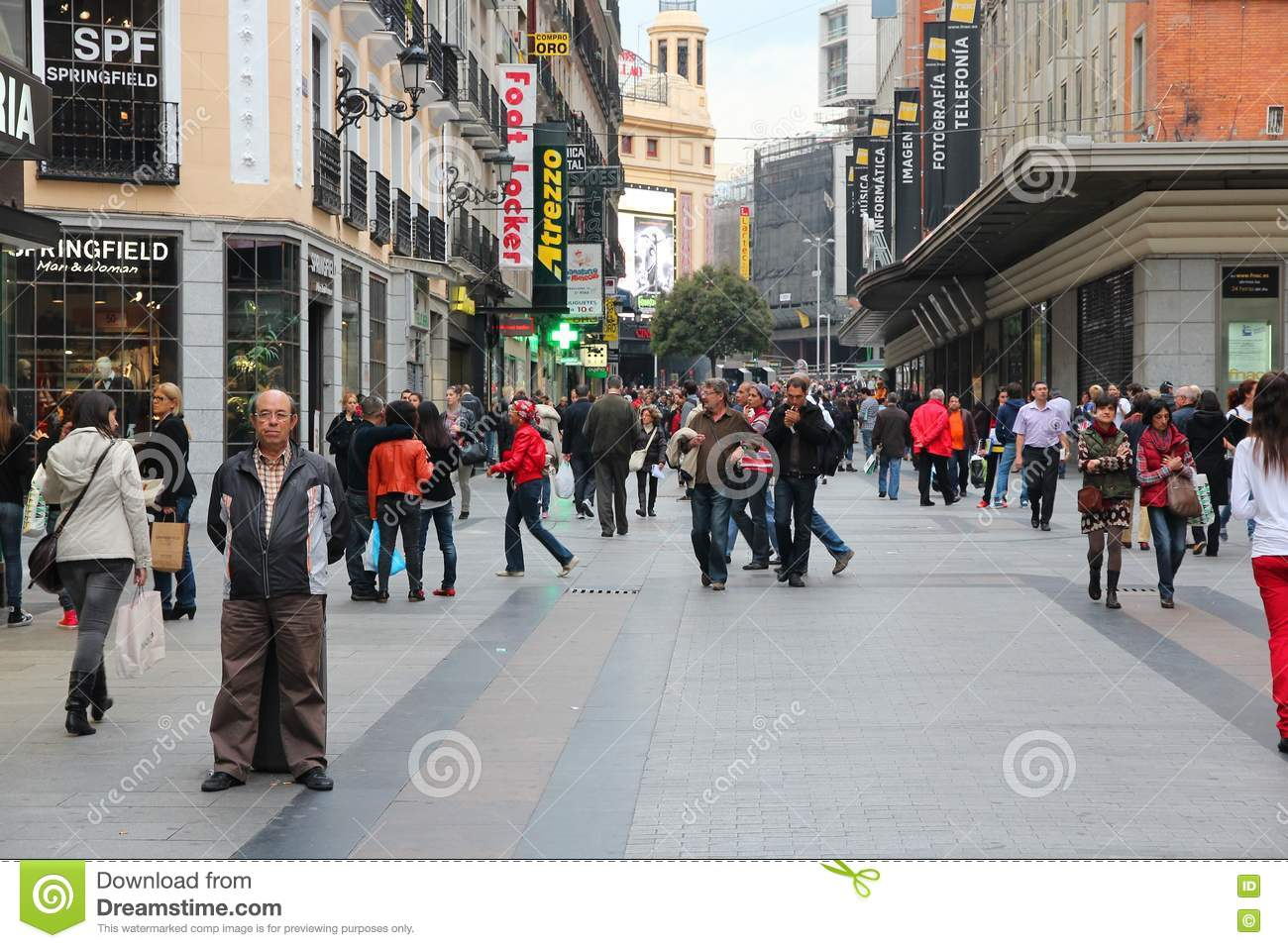 b1a00395d73 Madrid editorial stock photo. Image of crowd