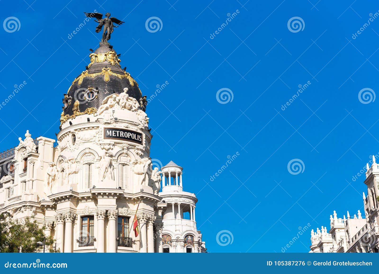 Madrid spain september 26 2017 view of metropolis - Space madrid ...