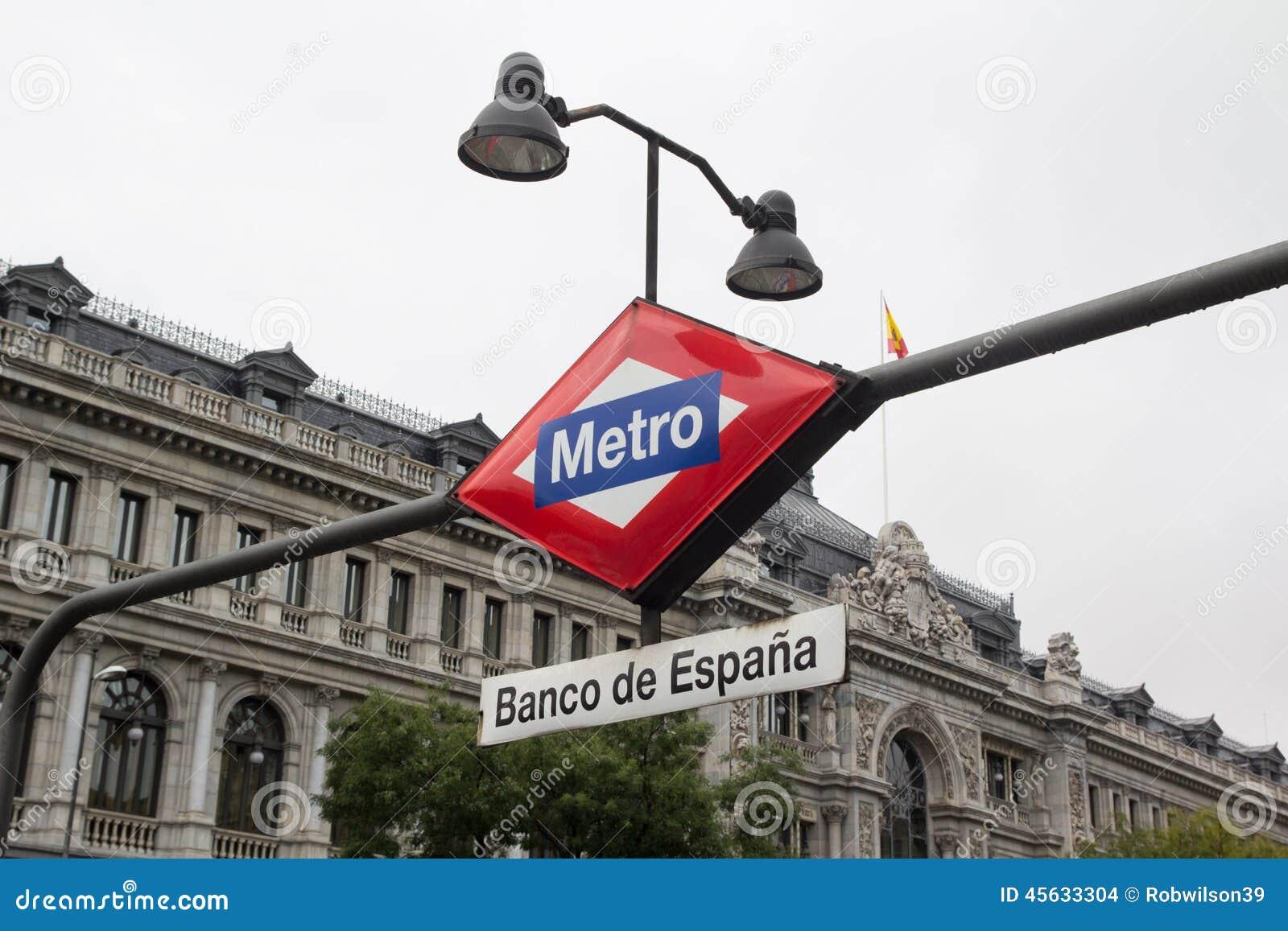 Madryt metra znak