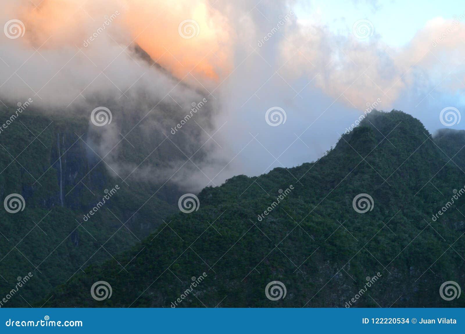 Mafate vulkanische caldera in het Eiland Réunion