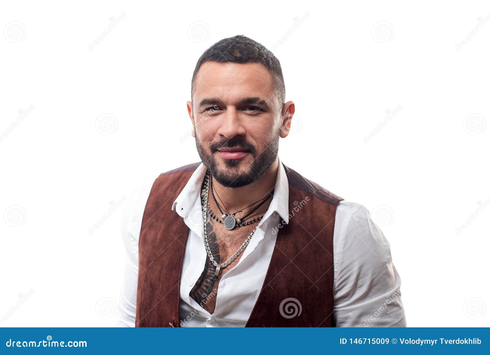 Maffiaframstickande Stiligt maffiaframstickande för grabb Latino mode Mannen ansade väl rikt trendigt macho Grabbkläderkläder och