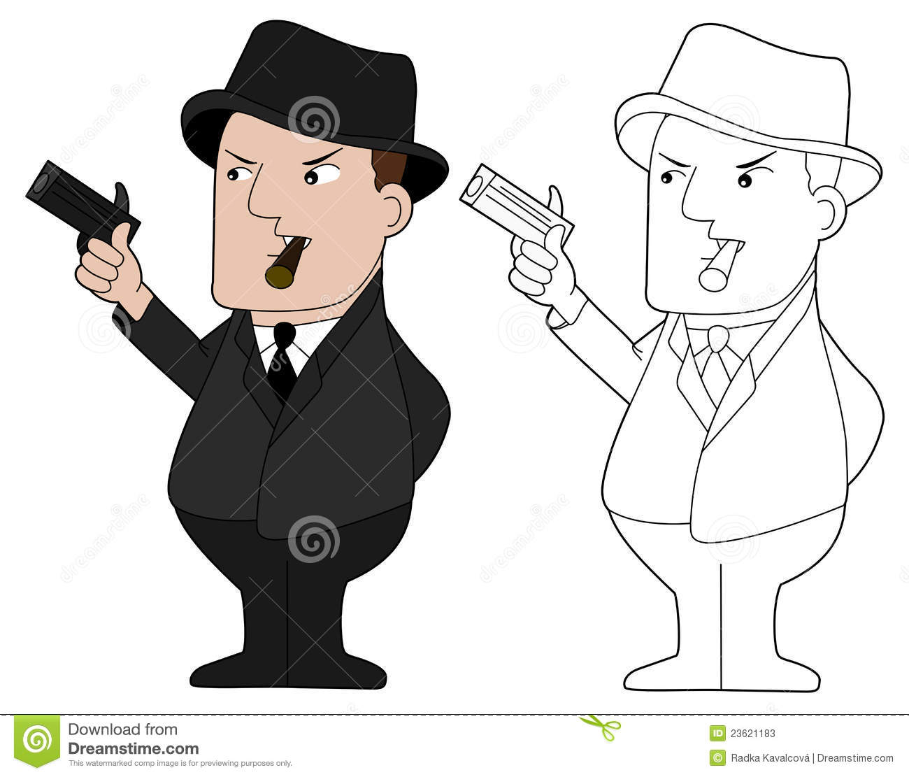 Mafia guy cartoon stock illustration. Image of caucasian ...