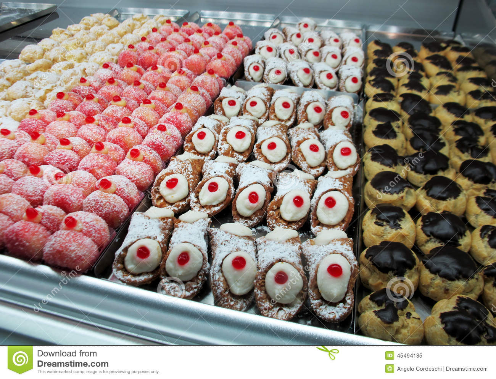 Magasin av sötsaker, kakor och bakelser