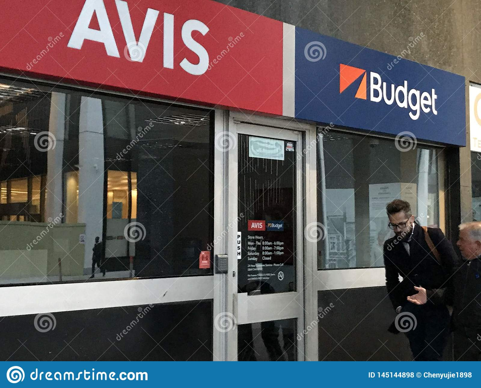 Magasin d Avis Budget, Londres