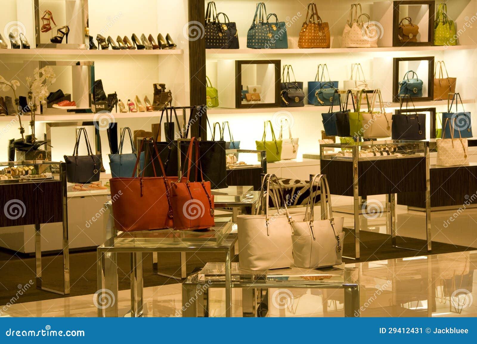 magasin de chaussures de sac main et image stock image 29412431. Black Bedroom Furniture Sets. Home Design Ideas
