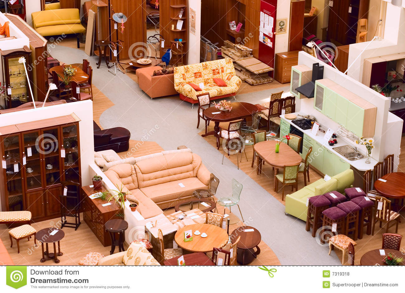 magasin de meubles photo stock image du pi ce int rieur. Black Bedroom Furniture Sets. Home Design Ideas
