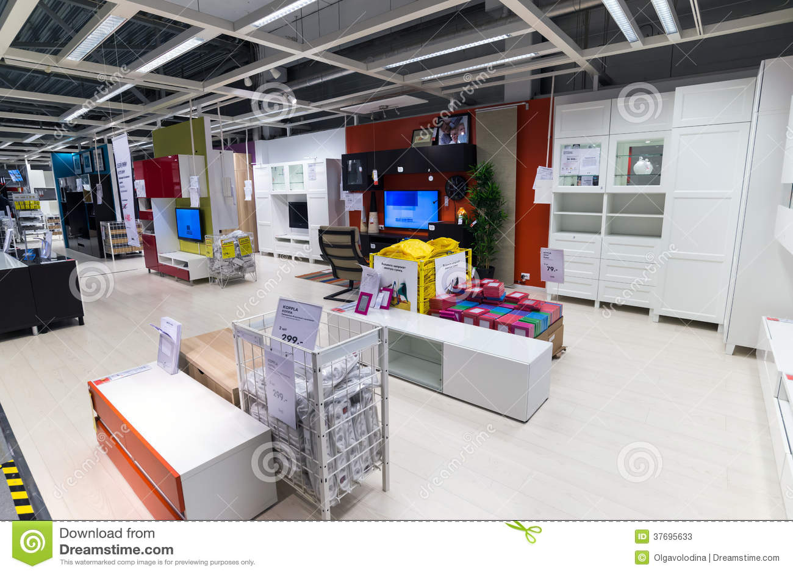 Magasin de meubles int rieur ikea photo stock ditorial for Ameublement interieur
