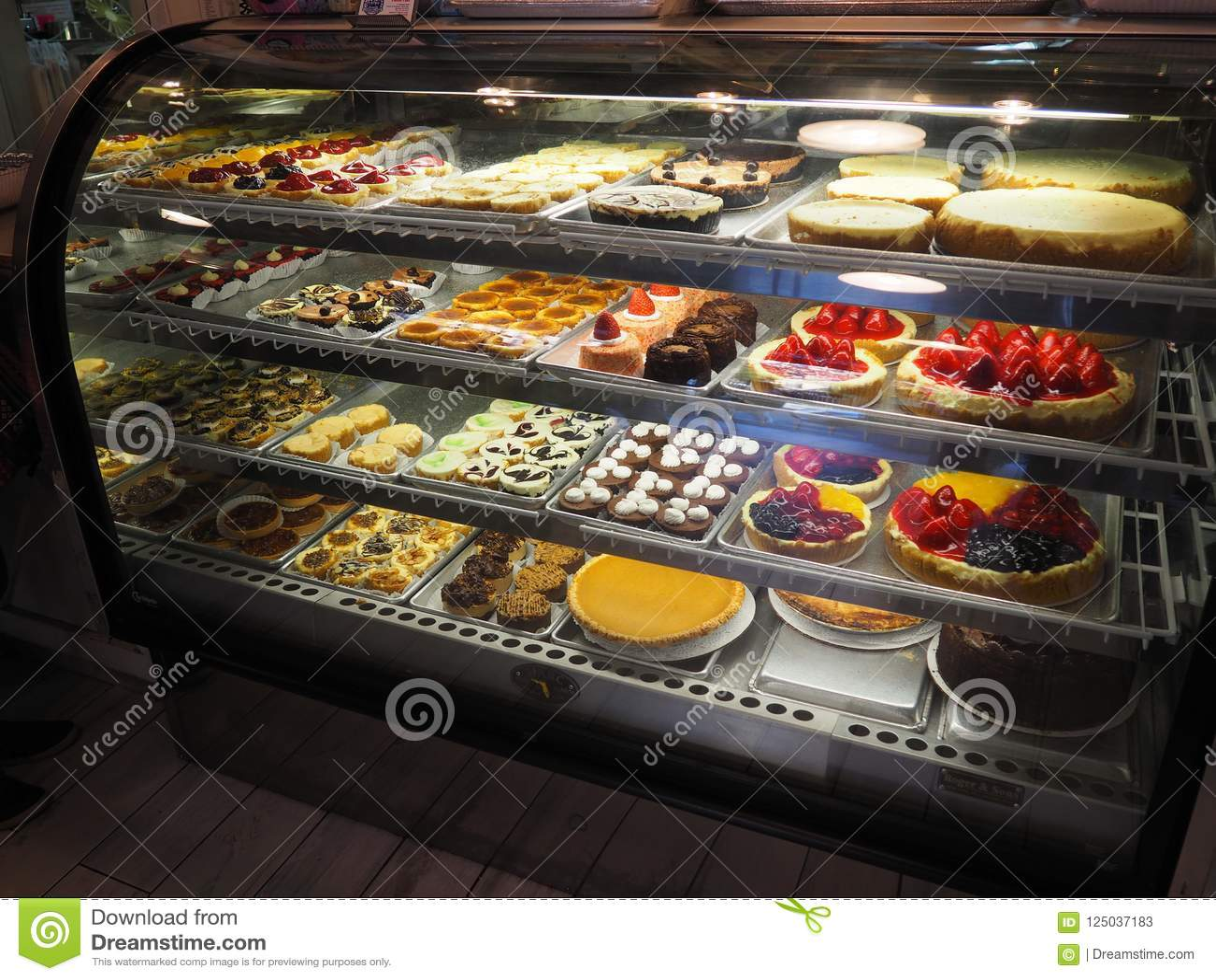 Magasin de petit gâteau à New York, Etats-Unis