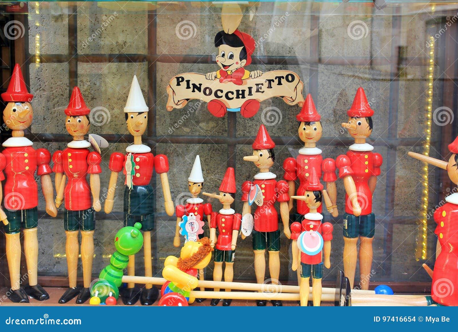 Magasin de Pinocchio à Rome, Italie