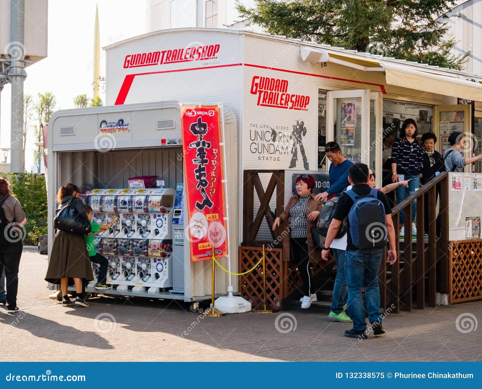 Magasin de remorque de Gundam, magasin officiel de Gundam à la plaza de ville de plongeur