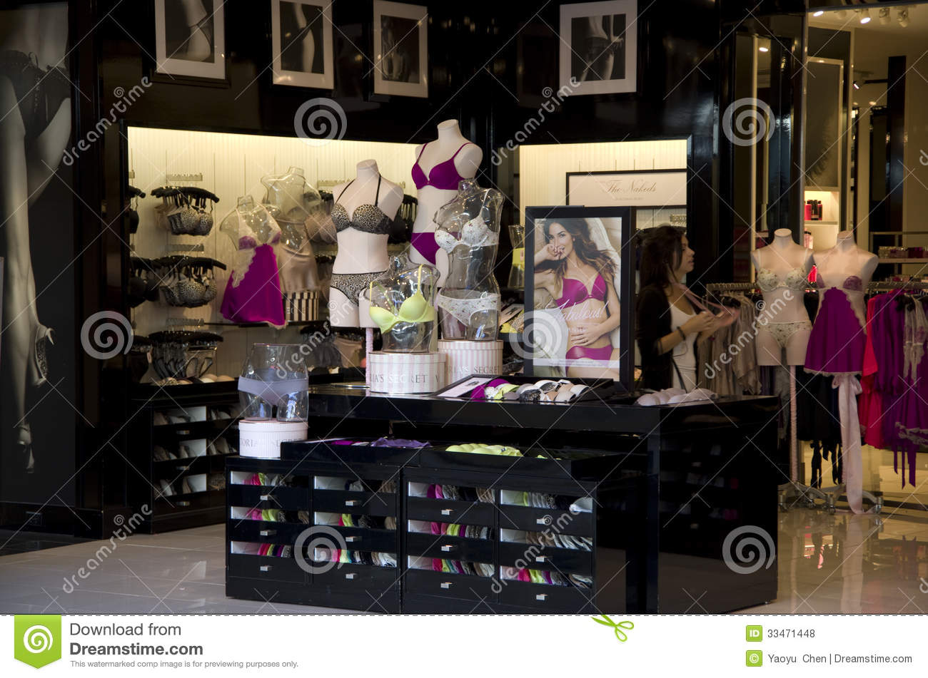Magasin de sous v tements de victoria s secret photo stock for A l interieur des gentils